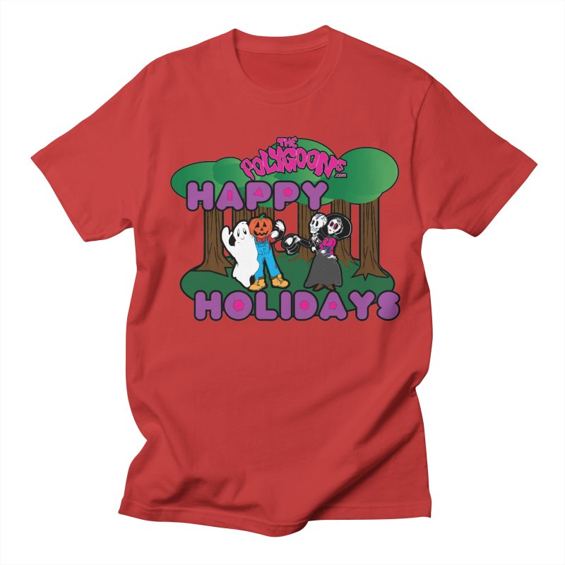 Happy Holidays Women's Regular Unisex T-Shirt by The Polygoons' Shop