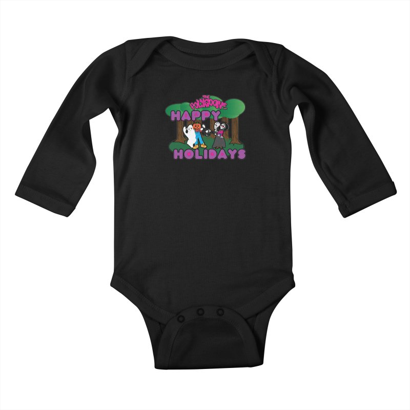 Happy Holidays Kids Baby Longsleeve Bodysuit by The Polygoons' Shop