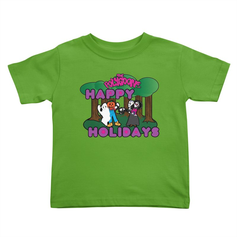Happy Holidays Kids Toddler T-Shirt by The Polygoons' Shop