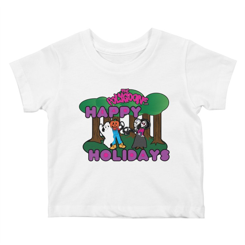 Happy Holidays Kids Baby T-Shirt by The Polygoons' Shop
