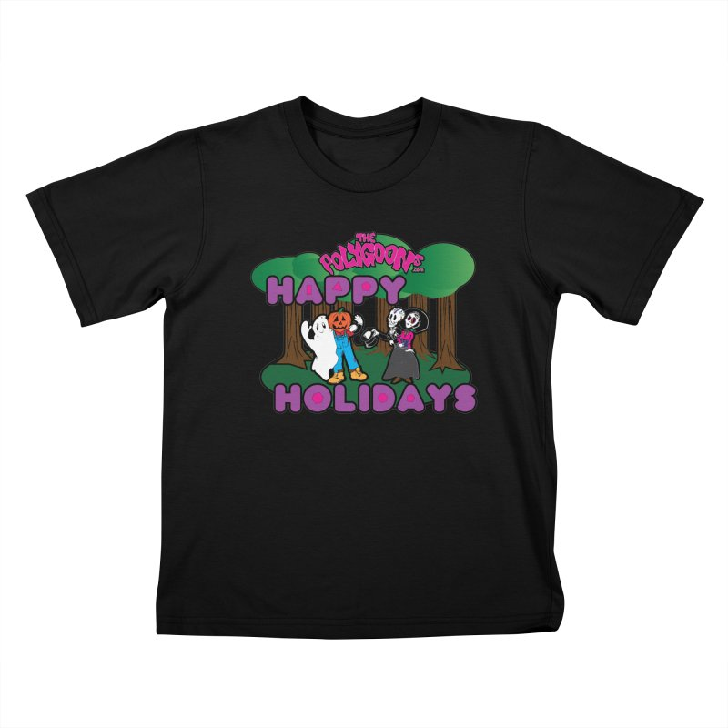 Happy Holidays Kids T-Shirt by The Polygoons' Shop