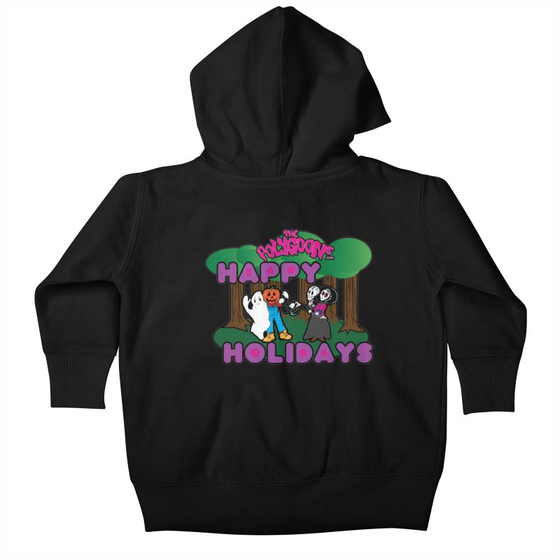 Happy Holidays Kids Baby Zip-Up Hoody by The Polygoons' Shop