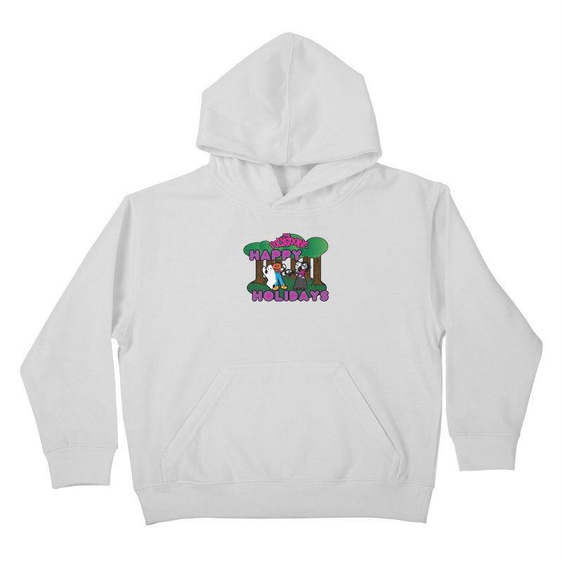 Happy Holidays Kids Pullover Hoody by The Polygoons' Shop