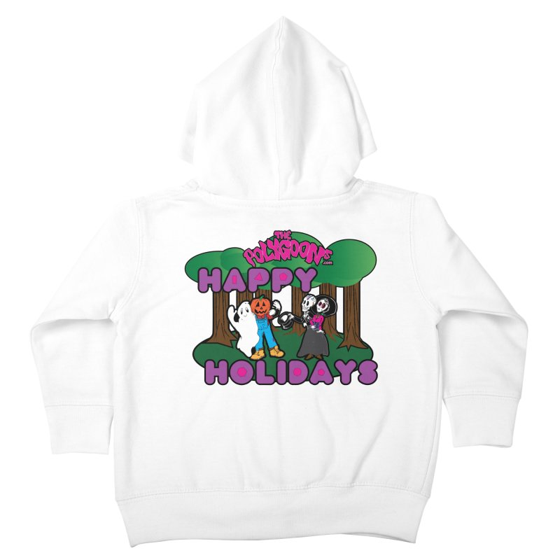 Happy Holidays Kids Toddler Zip-Up Hoody by The Polygoons' Shop