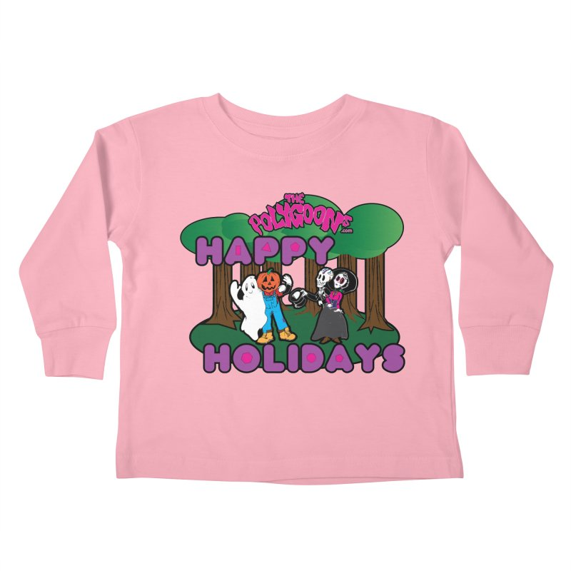 Happy Holidays Kids Toddler Longsleeve T-Shirt by The Polygoons' Shop