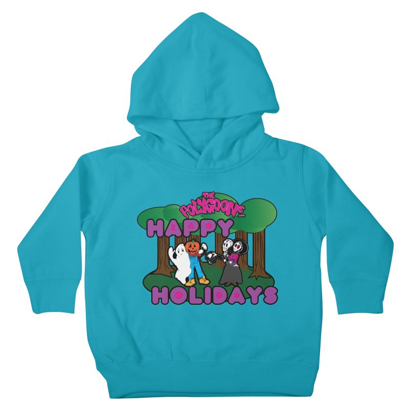Happy Holidays Kids Toddler Pullover Hoody by The Polygoons' Shop
