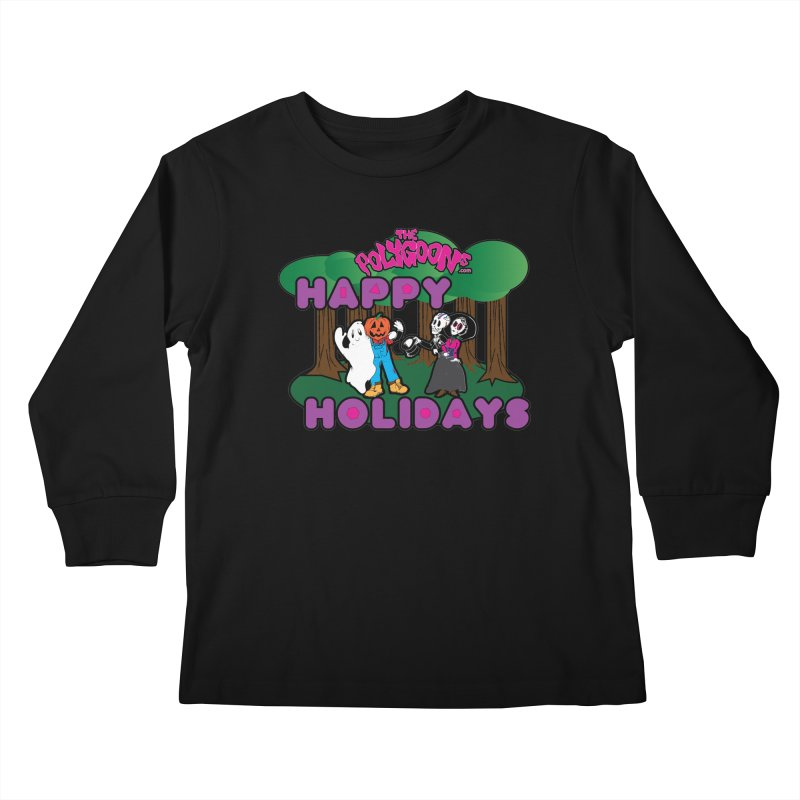 Happy Holidays Kids Longsleeve T-Shirt by The Polygoons' Shop