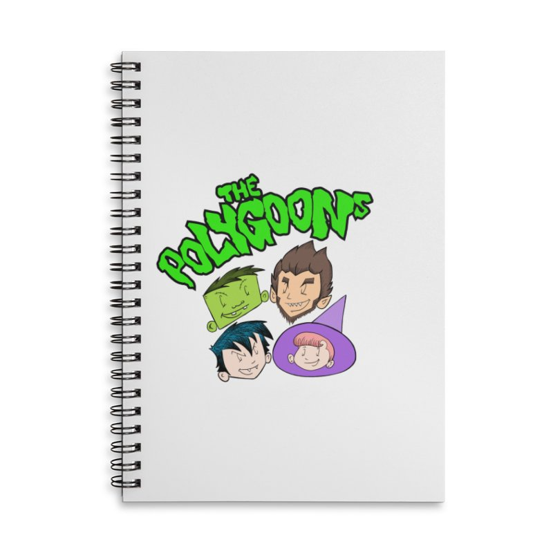 Group + Logo Accessories Lined Spiral Notebook by The Polygoons' Shop