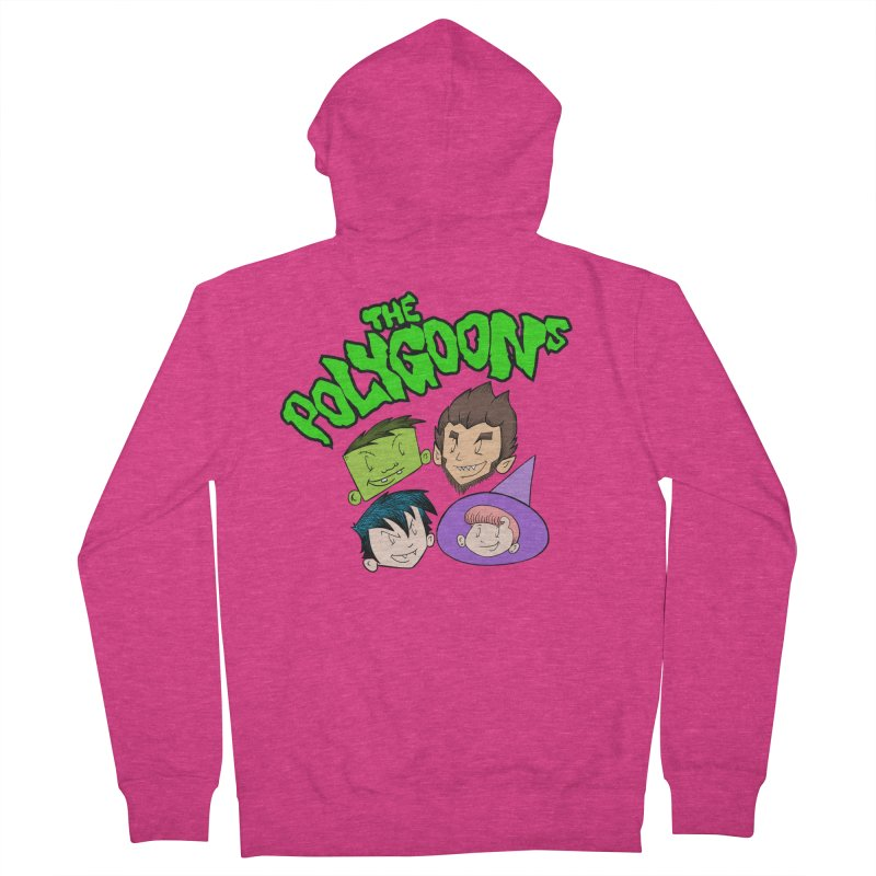 Group + Logo Women's French Terry Zip-Up Hoody by The Polygoons' Shop