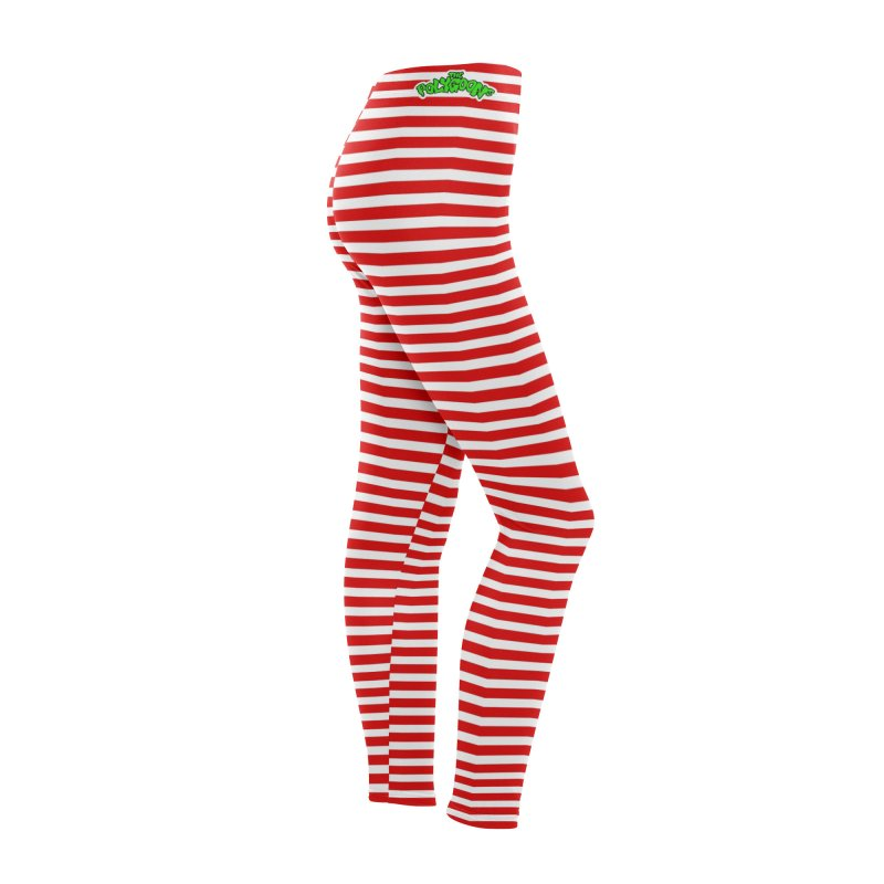 Polygoons Leggings - Red + White Stripes Women's Bottoms by The Polygoons' Shop