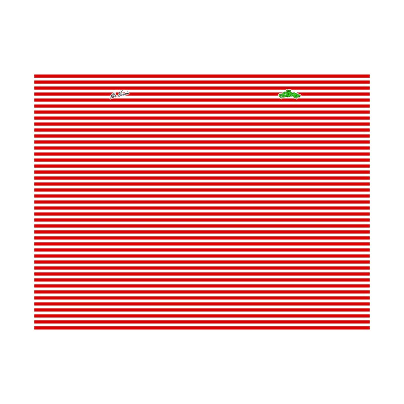 Polygoons Leggings - Red + White Stripes by The Polygoons' Shop