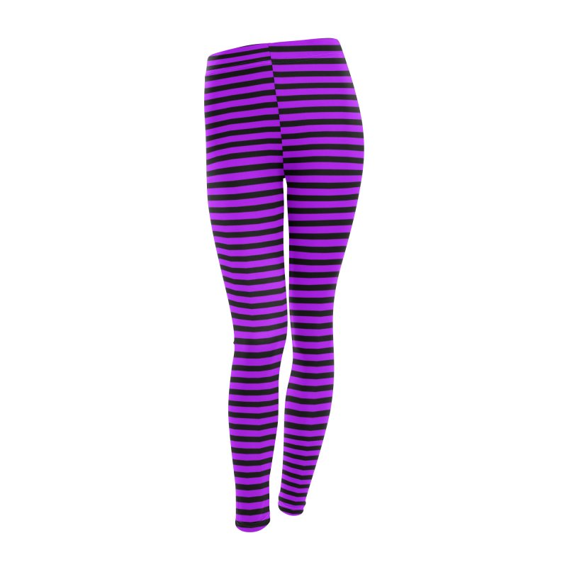 Polygoons Leggings - Purple +Black Women's Leggings Bottoms by The Polygoons' Shop