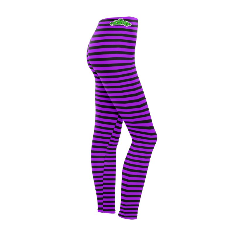 Polygoons Leggings - Purple +Black Women's Bottoms by The Polygoons' Shop