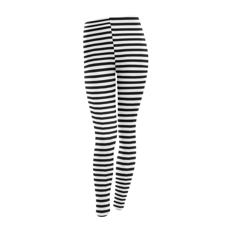 Polygoons Leggings - Black + White Women's Leggings Bottoms by The Polygoons' Shop