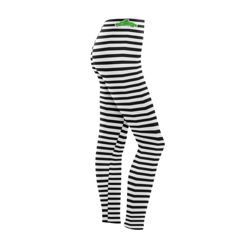 Polygoons Leggings - Black + White Women's Bottoms by The Polygoons' Shop