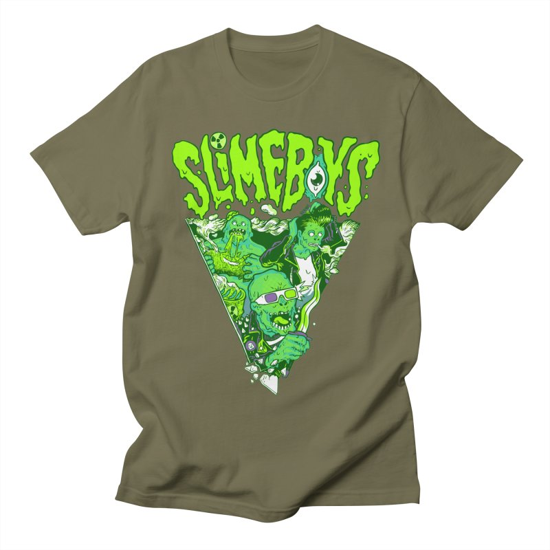 SLIME BOYS in Men's Regular T-Shirt Olive by TUFFTOWN GIFT SHOP
