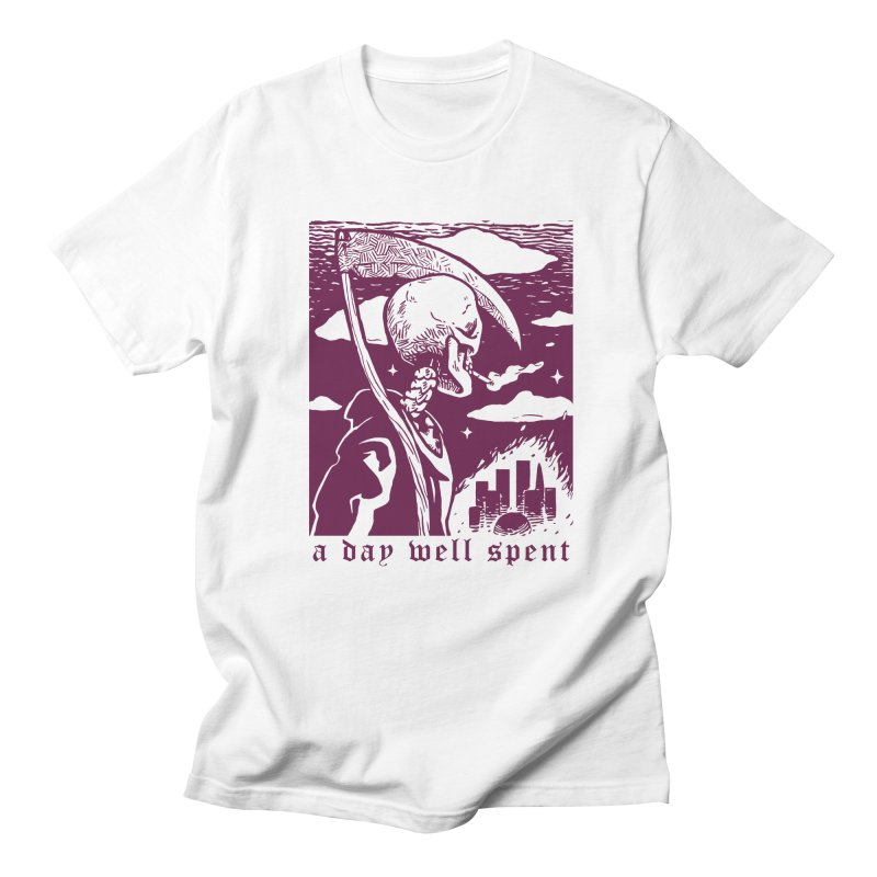 A day well spent in Men's Regular T-Shirt White by TUFFTOWN GIFT SHOP