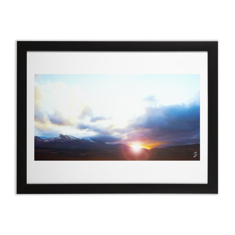 Sunset in the Highlands Home Framed Fine Art Print by Melissa's Photos