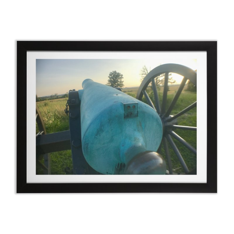 Cannon at the Ready Home Framed Fine Art Print by Melissa's Photos