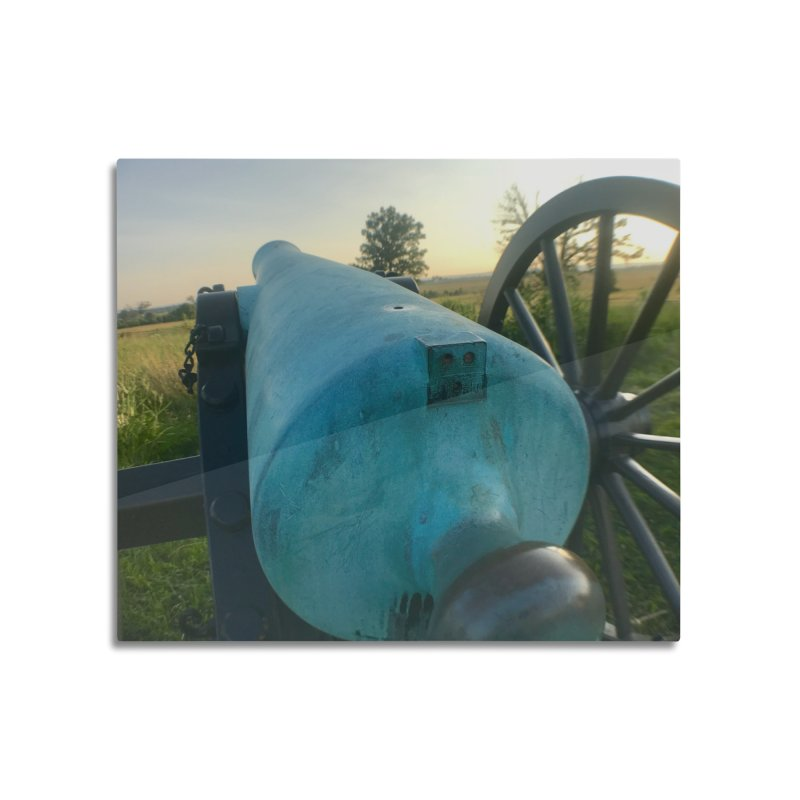 Cannon at the Ready Home Mounted Aluminum Print by Melissa's Photos