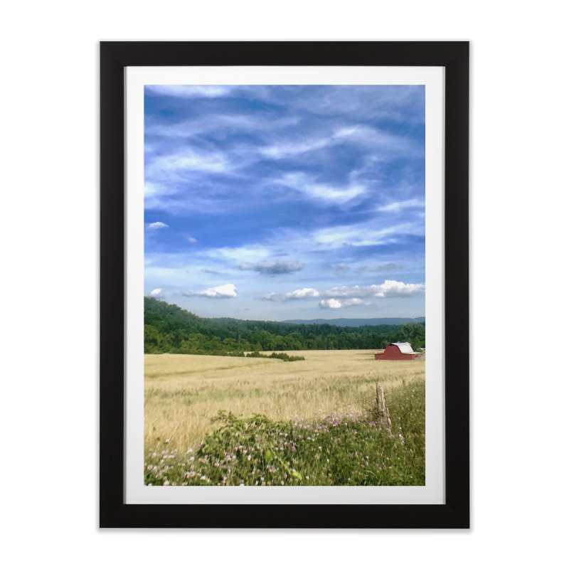 Blue Ridge Mountains Home Framed Fine Art Print by Melissa's Photos