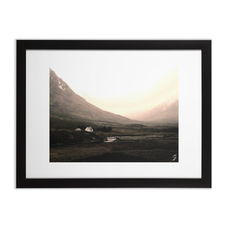 Hidden in the Valley Home Framed Fine Art Print by Melissa's Photos