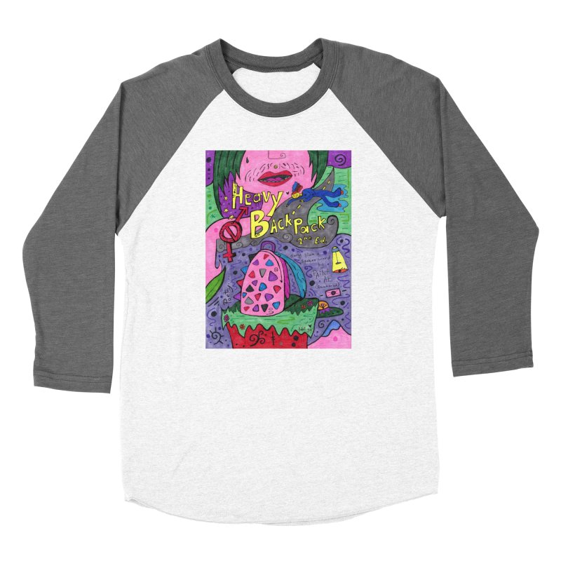 Heavy BackPack Fitted Clothing Styles Longsleeve T-Shirt by Paint AF's Artist Shop