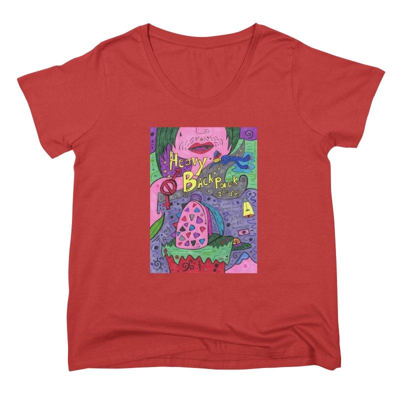 Heavy BackPack Fitted Clothing Styles Scoop Neck by Paint AF's Artist Shop