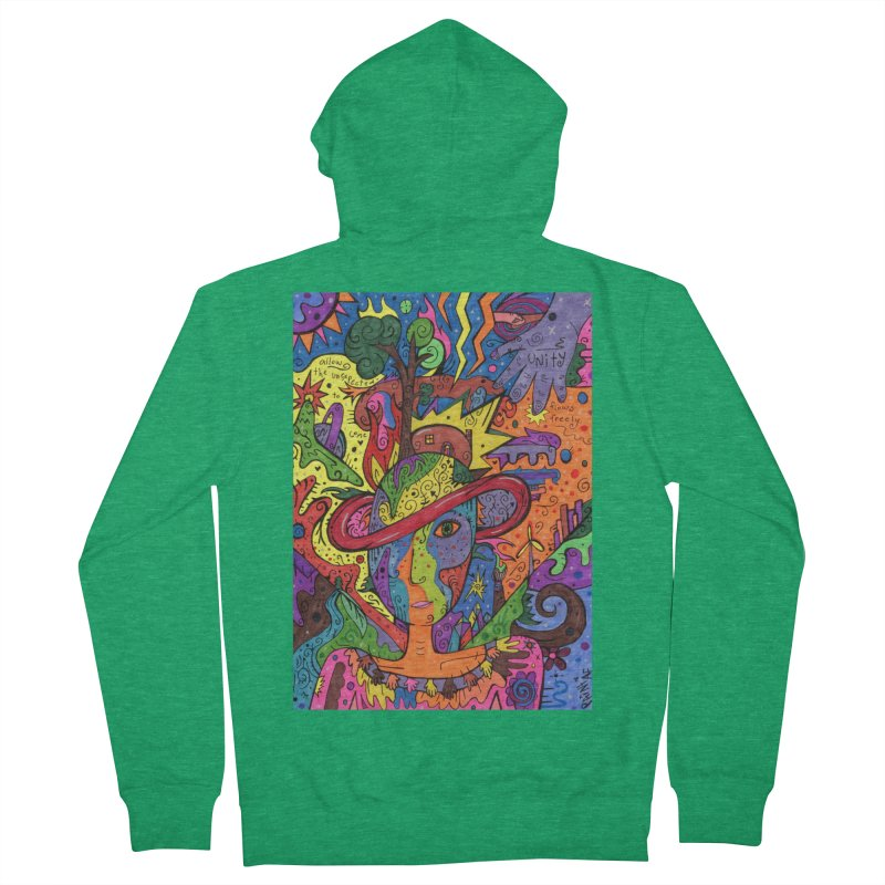 Intent: Manifesting Unity Comfortable Styles Zip-Up Hoody by Paint AF's Artist Shop