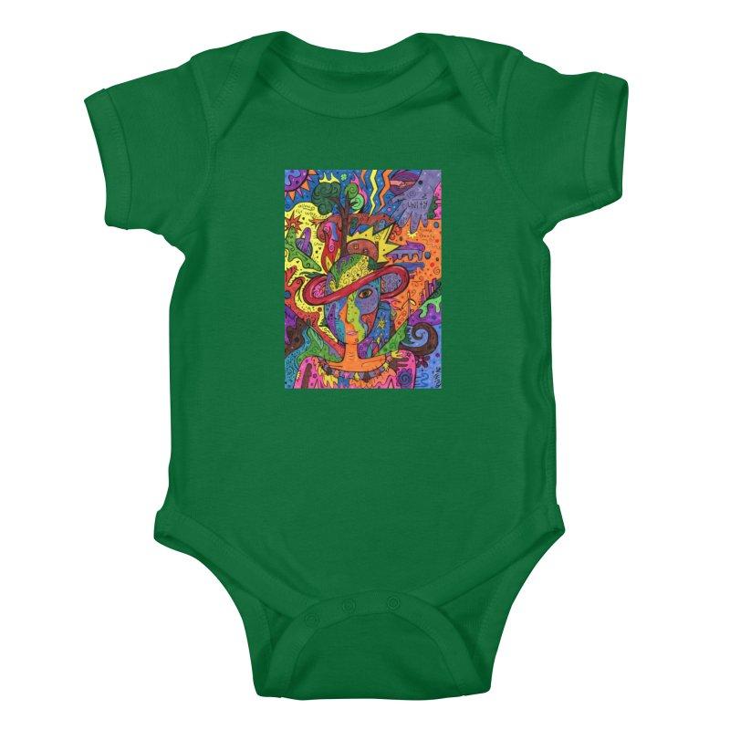 Intent: Manifesting Unity Kids Baby Bodysuit by Paint AF's Artist Shop