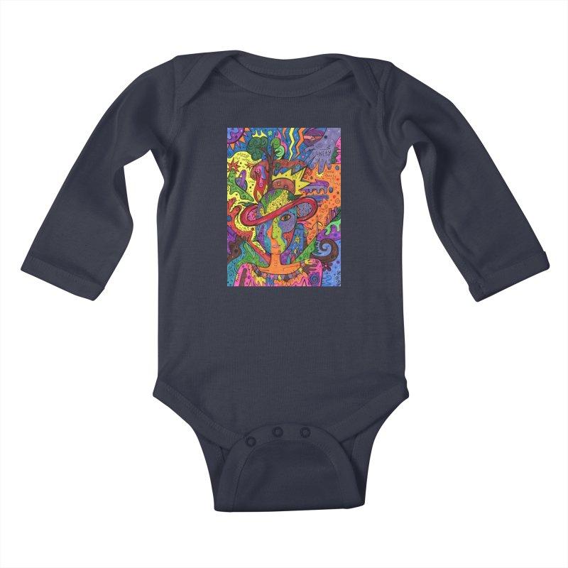 Intent: Manifesting Unity Kids Baby Longsleeve Bodysuit by Paint AF's Artist Shop