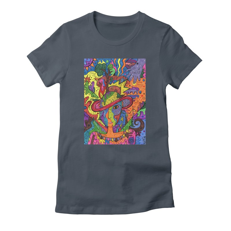 Intent: Manifesting Unity Fitted Clothing Styles T-Shirt by Paint AF's Artist Shop