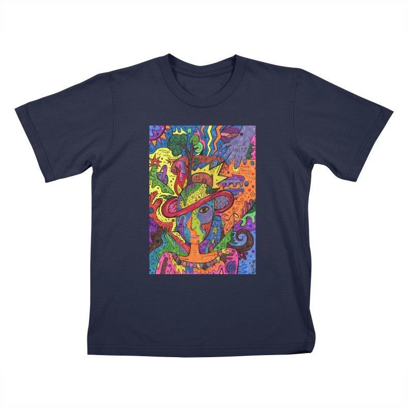 Intent: Manifesting Unity Kids T-Shirt by Paint AF's Artist Shop