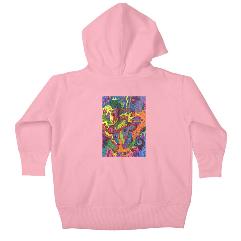 Intent: Manifesting Unity Kids Baby Zip-Up Hoody by Paint AF's Artist Shop