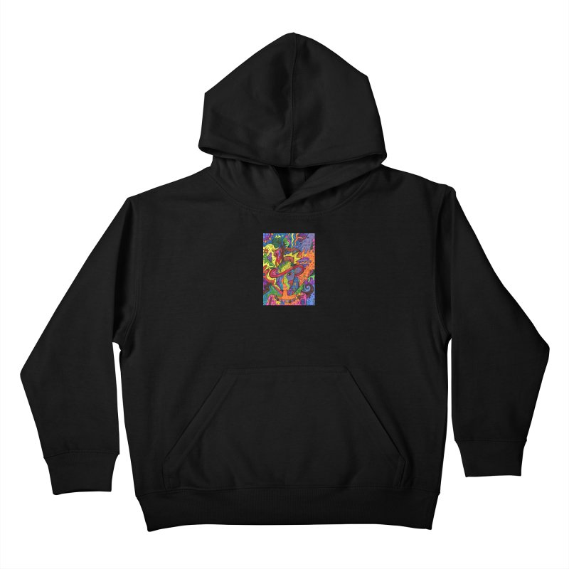 Intent: Manifesting Unity Kids Pullover Hoody by Paint AF's Artist Shop