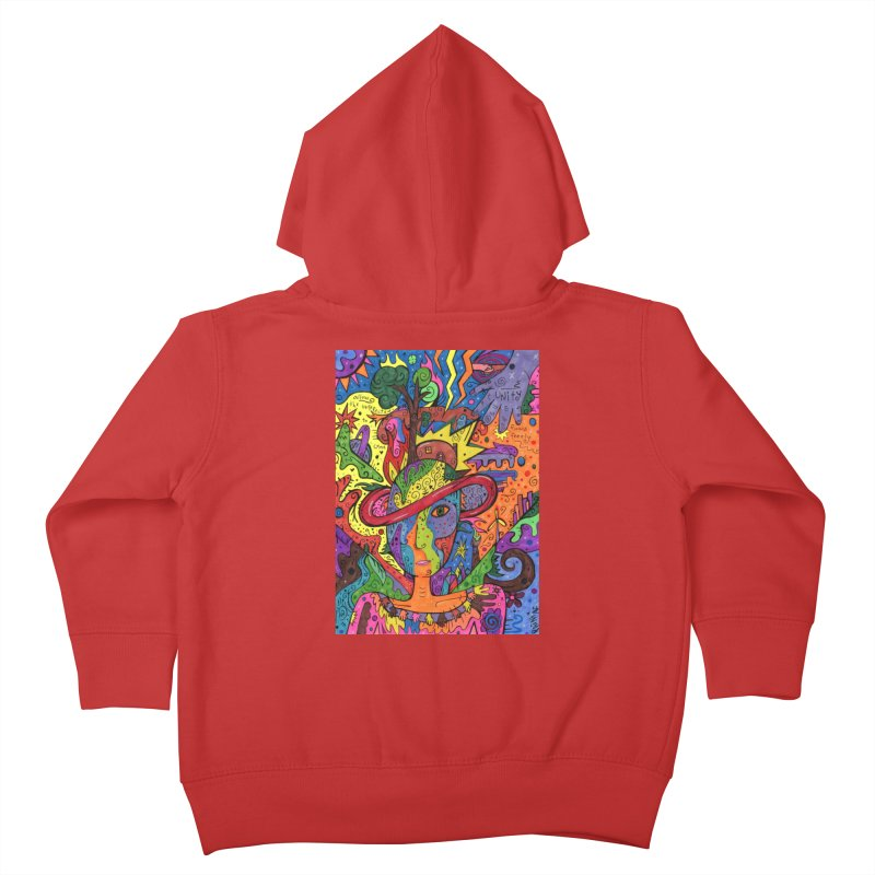 Intent: Manifesting Unity Kids Toddler Zip-Up Hoody by Paint AF's Artist Shop