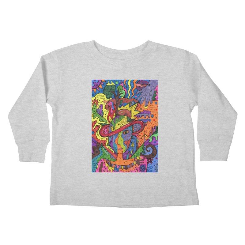 Intent: Manifesting Unity Kids Toddler Longsleeve T-Shirt by Paint AF's Artist Shop