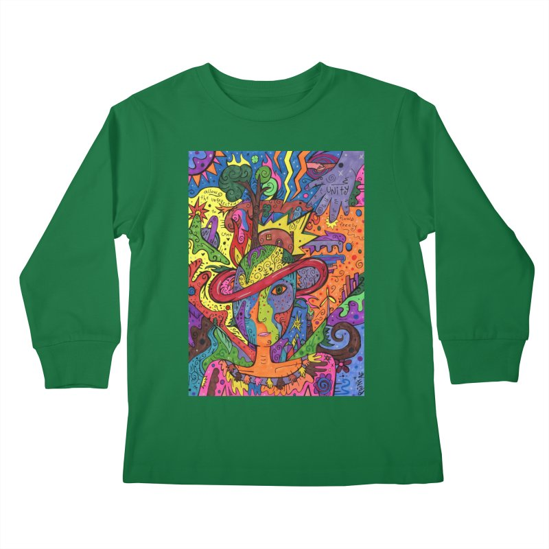 Intent: Manifesting Unity Kids Longsleeve T-Shirt by Paint AF's Artist Shop