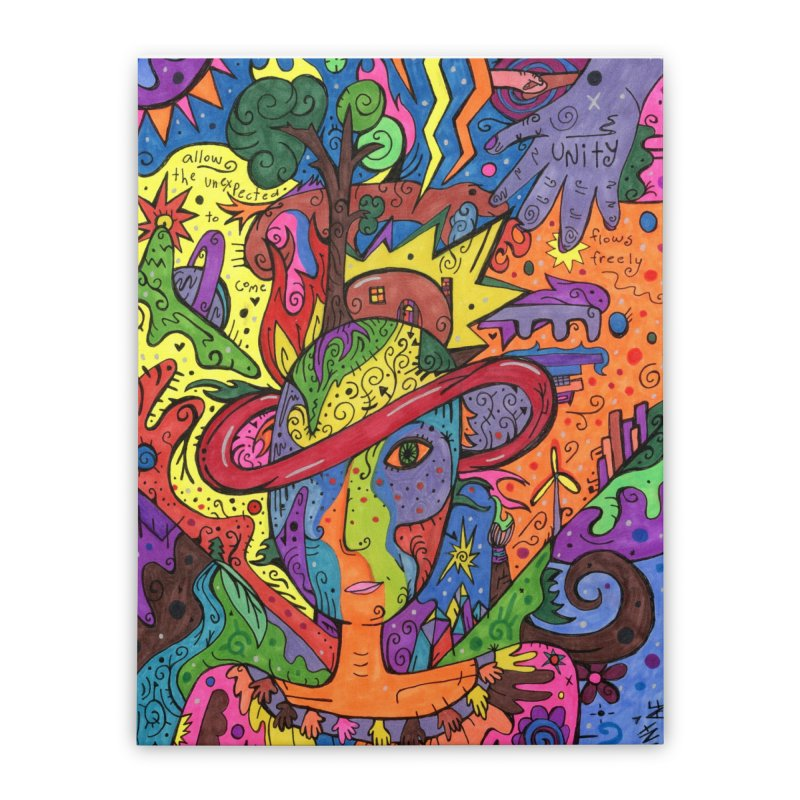 Intent: Manifesting Unity Home, Décor & Cozy Stretched Canvas by Paint AF's Artist Shop