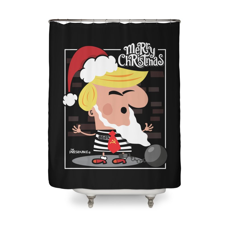 Merry Christmas Home Shower Curtain by thePresidunce