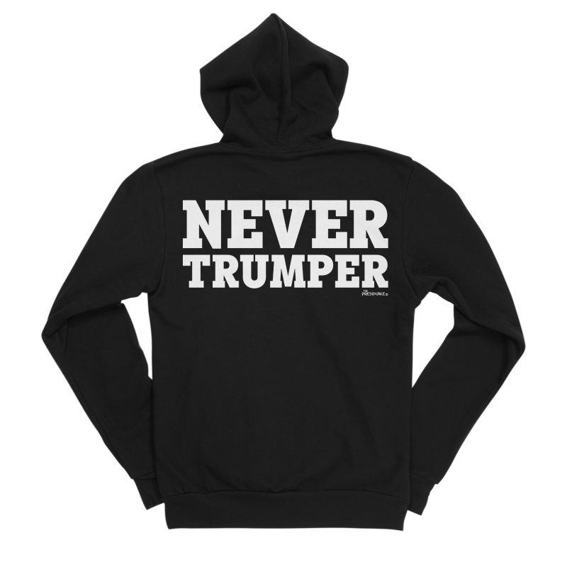 Never Trumper Men's Sponge Fleece Zip-Up Hoody by thePresidunce