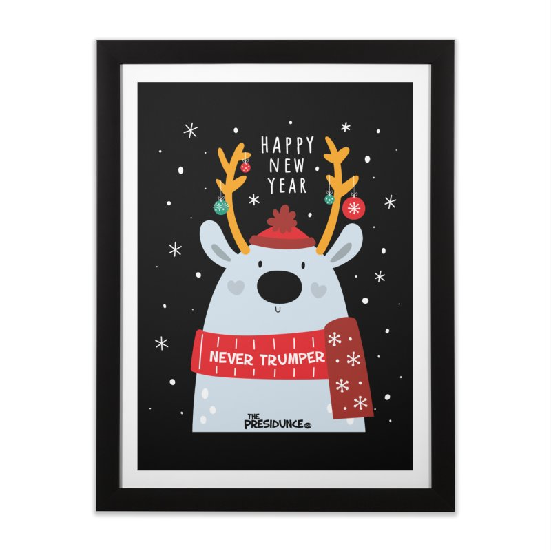 Happy New Year Home Framed Fine Art Print by thePresidunce