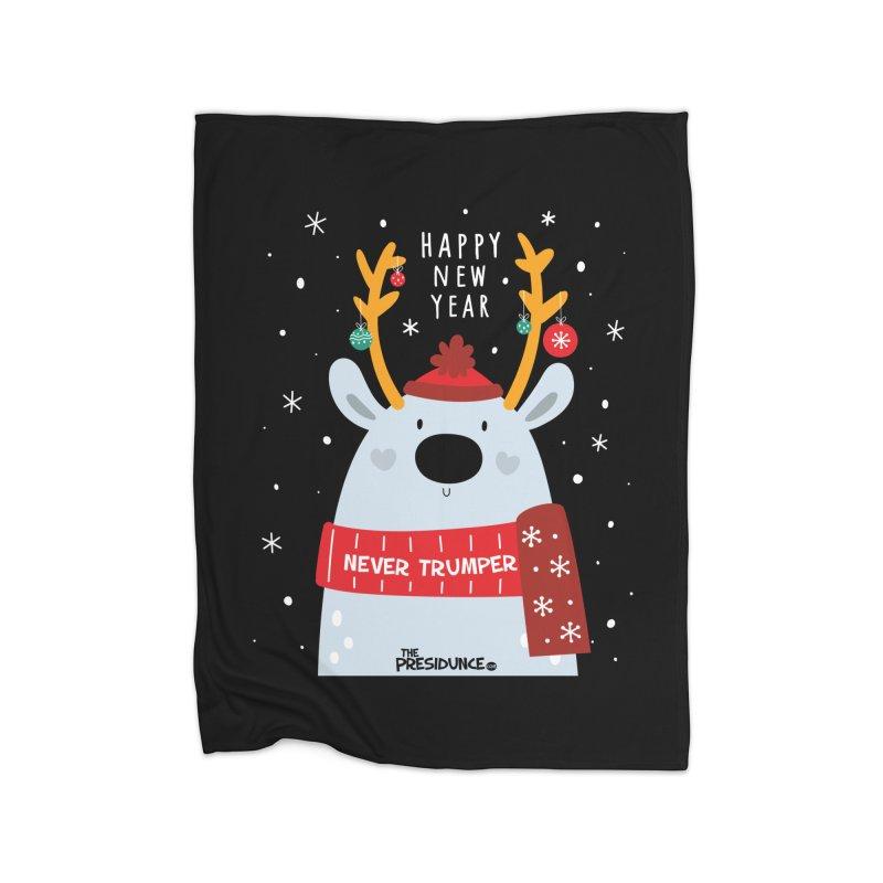 Happy New Year Home Fleece Blanket Blanket by thePresidunce