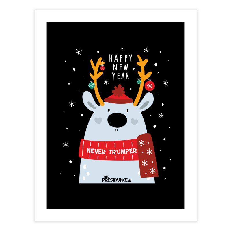 Happy New Year Home Fine Art Print by thePresidunce
