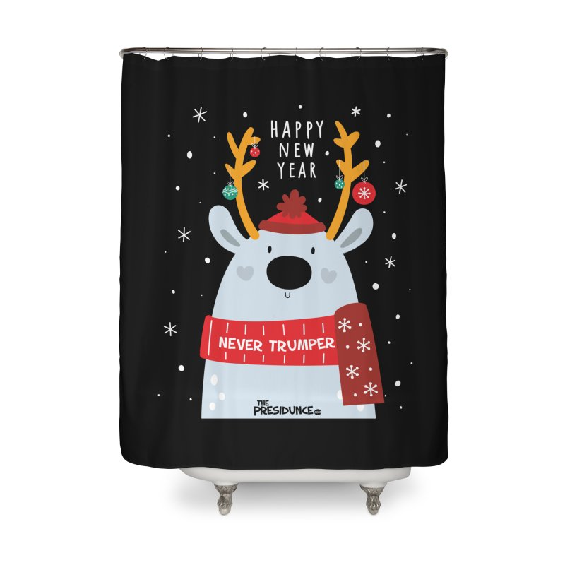 Happy New Year Home Shower Curtain by thePresidunce