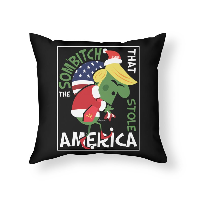 Som'Bitch Home Throw Pillow by thePresidunce