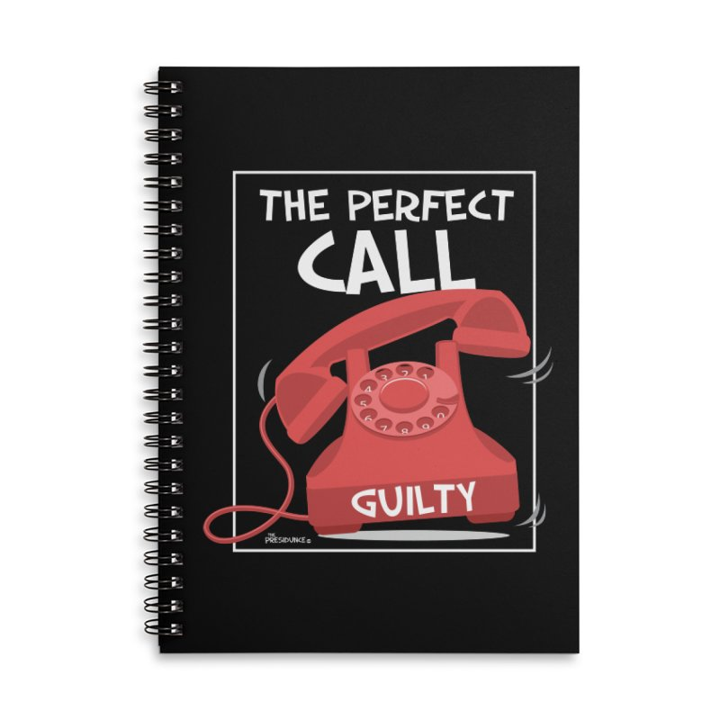 The Perfect Call Accessories Lined Spiral Notebook by thePresidunce