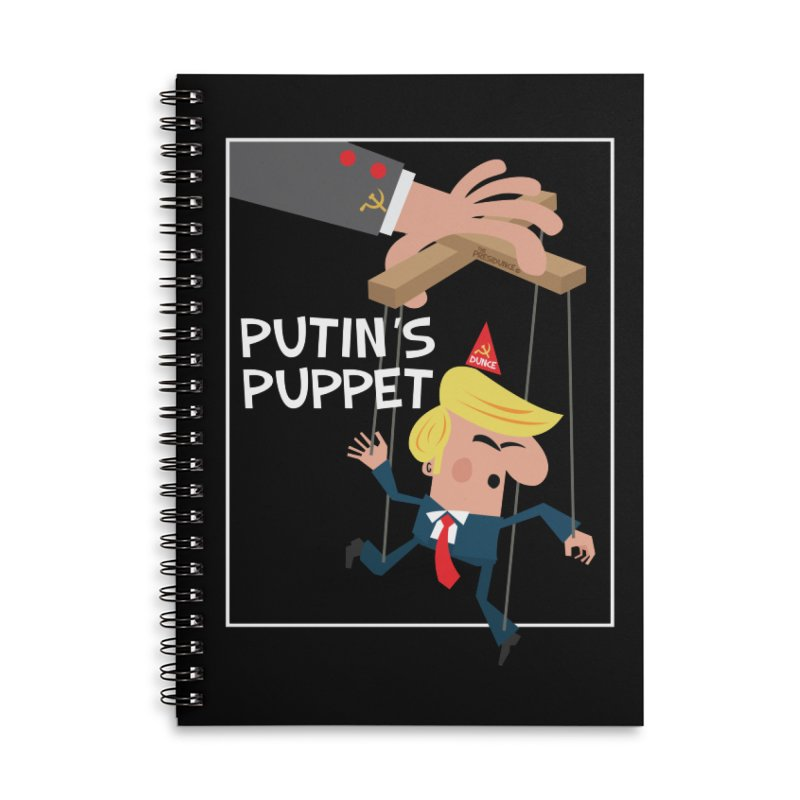 Putin's Puppet Accessories Lined Spiral Notebook by thePresidunce