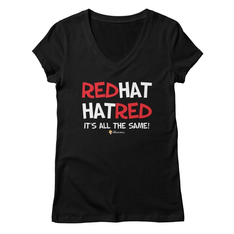 RedHat Women's Regular V-Neck by thePresidunce