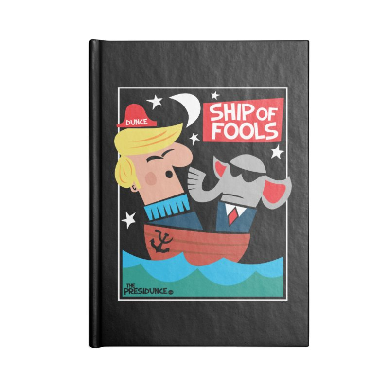 Ship of Fools Accessories Lined Journal Notebook by thePresidunce